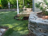 Rock Wall with Lawn